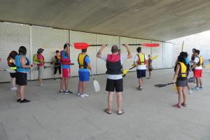 Prácticas en seco, en el hangar y en la rampa del Centro Náutico Municipal