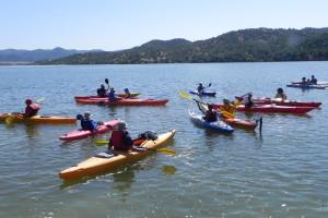 Travesía en el embalse de San Rafael de Navallana (río Guadalmellato)